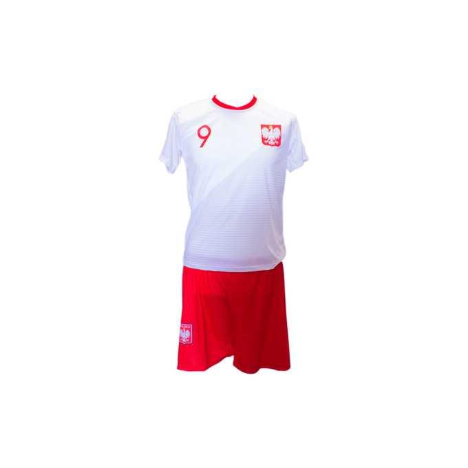 4d2fe6b6ed7e2c Komplet Sportowy Lewandowski 9 - Polska szaro-czerwony