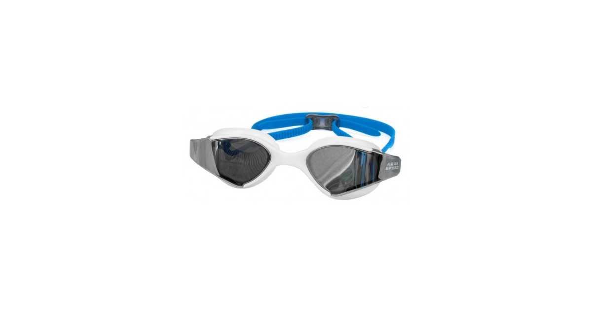 9d05ee80596d93 Okulary pływackie AquaSpeed Blade Mirror 51 biało-niebieskie